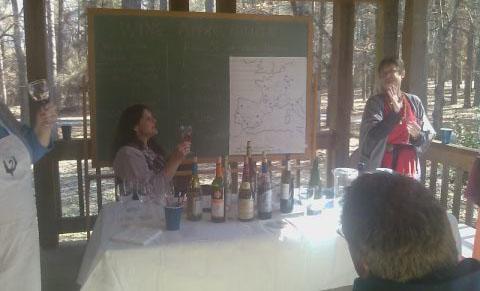 Wine appreciation class at Wine List