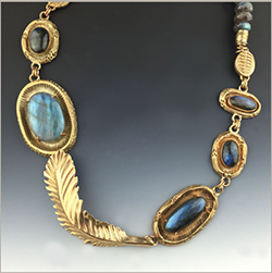 Bronze metal clay necklace