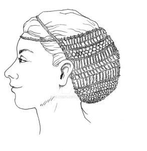 Borum Eshoj sprang hairnet illustration