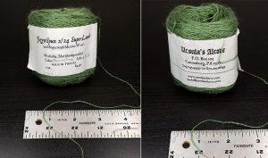 Superwash fingering wool, in beautiful 'natural dye-like' colors. Yet colorfast, won't felt...wonderful stuff!